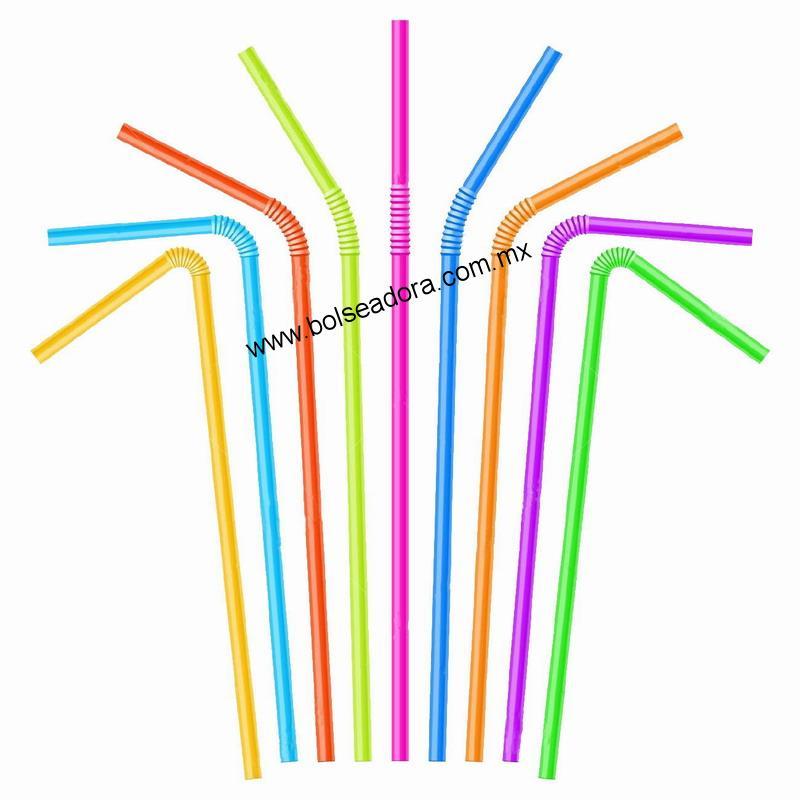 Popotes Flexibles de Plastico Polipropileno
